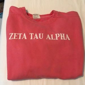 Comfort colors zeta Tau alpha sweatshirt